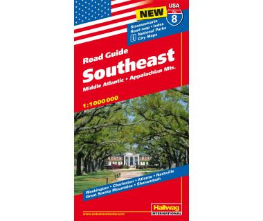 USA (8) Southeast - Mapa
