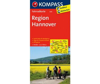 Region Hannover - Mapa rowerowa
