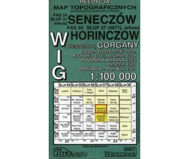 WIG Seneczów/Horinczow (Bieszczady Wsch., Gorgany, Borżawa) - Mapa