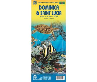 Dominica & Saint Lucia - Mapa