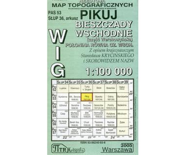 WIG Pikuj (Połonina Równa cz. wsch.) - Mapa