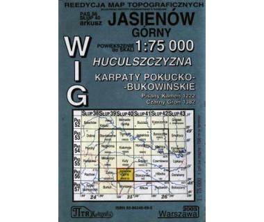 WIG Jasieniów Górny (Huculszczyzna, Karpaty Pokucko - Bukow.) - Mapa