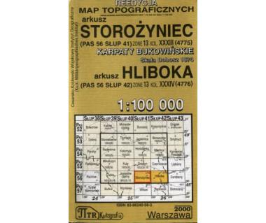 WIG Storożyniec/Hliboka (Karpaty Bukowińskie) - Mapa