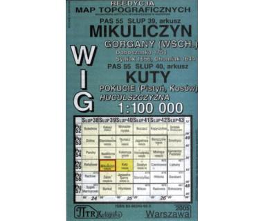 WIG Mikuliczyn/Kuty (Gorgany wsch., Pokucie, Huculszczyzna) - Mapa