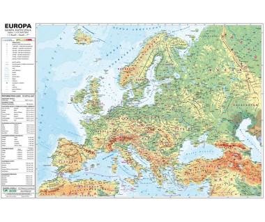 Europa mapa fizyczno-polityczna podręczna laminowana
