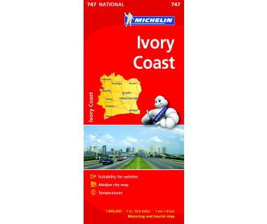 Ivory Coast - Mapa