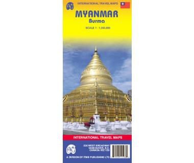 Myanmar - Mapa