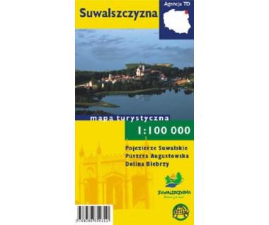 Suwalszczyzna (Poj.Suwalskie, P.Augustowska, Dolina Biebrzy) - Mapa
