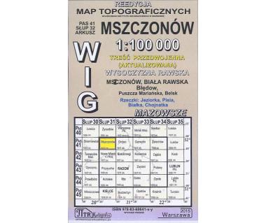 WIG 41/32 Mszczonów (plansza) reedycja z 1937 r.