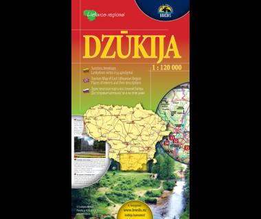 Dzukija (Litwa pd.) - Mapa