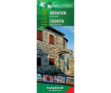 Kroatien Kuste Nord - Mapa