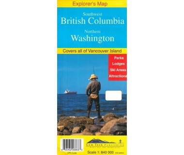 Southwest British Columbia, Northern Washington - Mapa