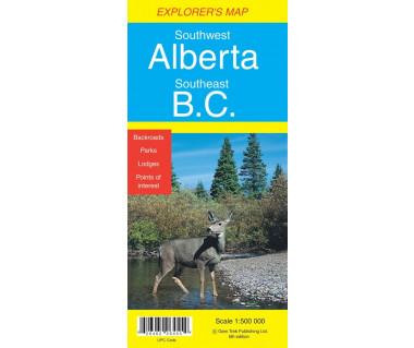 Southwest Alberta, Southeast B.C. - Mapa
