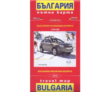 Bulgaria mountain resorts - Mapa