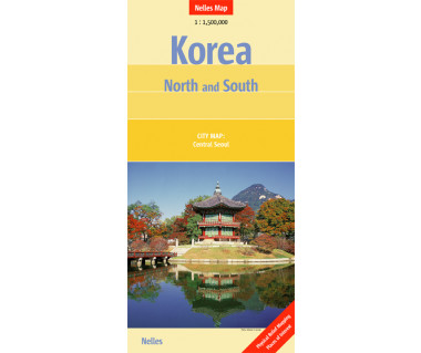Korea North and South - Mapa