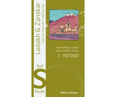 Ladakh & Zanskar south (Upper Zanskar, Rupshu) - Mapa wodoodporna