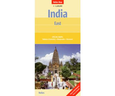 India East - Mapa
