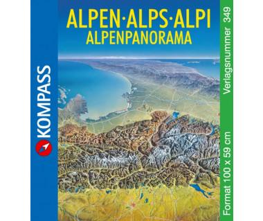 Alpy panorama (60*100cm poster) K 349