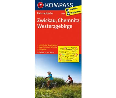 Zwickau, Chemnitz, Westerzgebirge - Mapa rowerowa