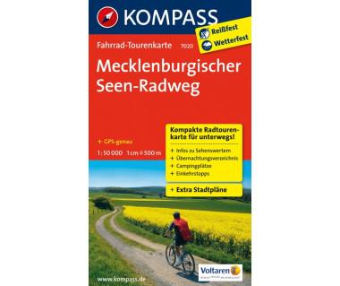 Mecklenburgischer Seen-Radweg - Mapa rowerowa laminowana