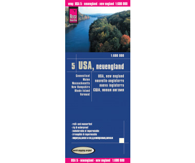 USA New England (5) - Mapa wodoodporna