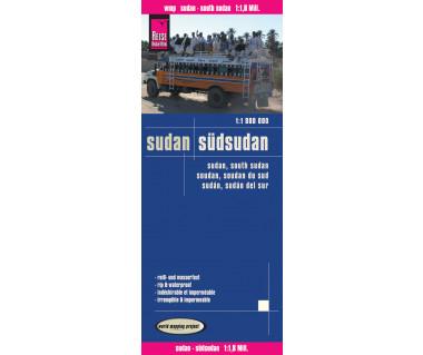 Sudan, South Sudan - Mapa wodoodporna