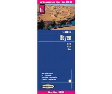 Libyen - Mapa wodoodporna