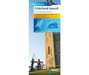 NL50 02 Friesland noord - Mapa rowerowa