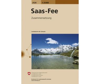 Saas-Fee - Mapa turystyczna