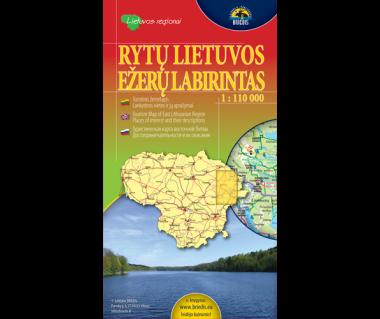Rytu Lietuvos, Ezeru Labiryntas (Litwa pn.-wsch.) - Mapa