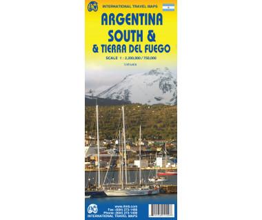Argentina South & Tierra del Fuego - Mapa