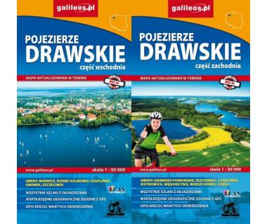 Pojezierze Drawskie wschód/zachód komplet - Mapa