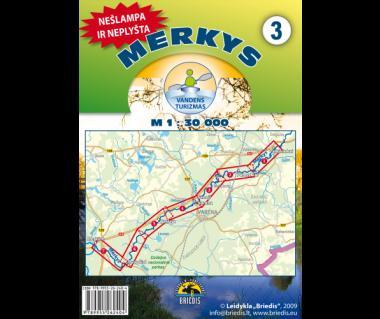 Merkys/Mereczanka mapa kajakowa wodoodporna (3) wodoodporna