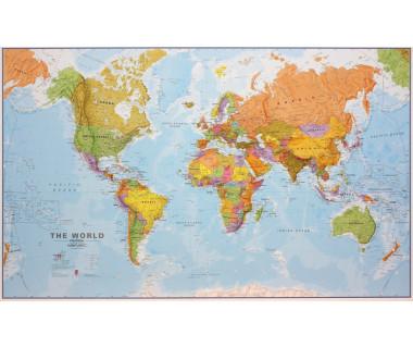 World Map 120x195cm (mapa polityczna laminowana w tubie)