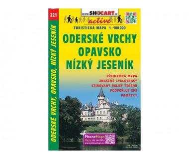 Opavsko, Oderske Vrchy, Nizky Jesenik - Mapa