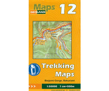 Gruzja mapa trekkingowa 12 (Borjomi Gorge, Bakuriani)