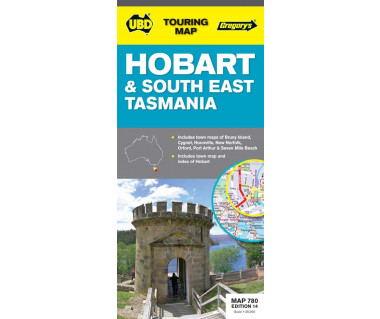 Hobart & South East Tasmania - Mapa