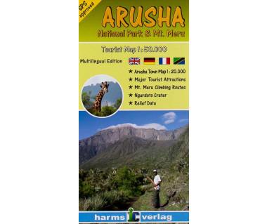 Arusha National Park & Mt.Meru - Mapa
