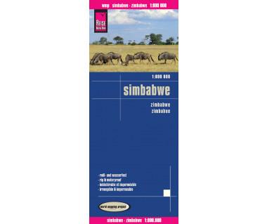 Zimbabwe/Simbabwe - Mapa wodoodporna