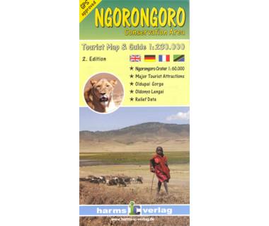 Ngorongoro Conservation Area - Mapa