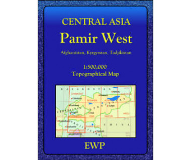 Central Asia Pamir West - Mapa