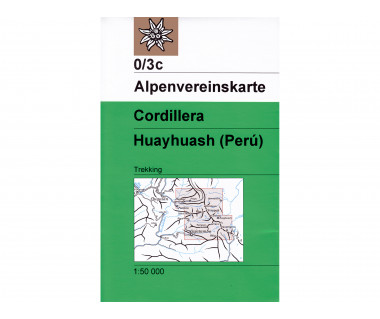 Cordillera Huayhuash - Mapa turystyczna