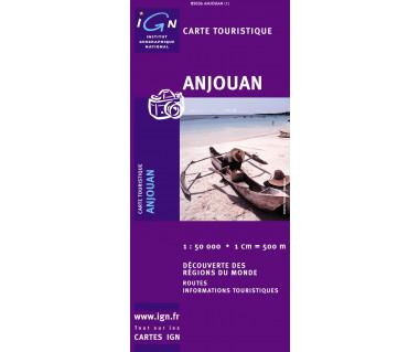 Anjouan (Archipel des Comores) - Mapa