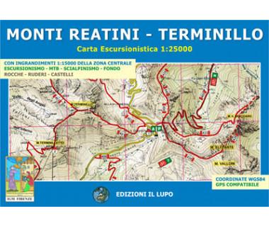 Monti Reatini - Terminillo - Mapa