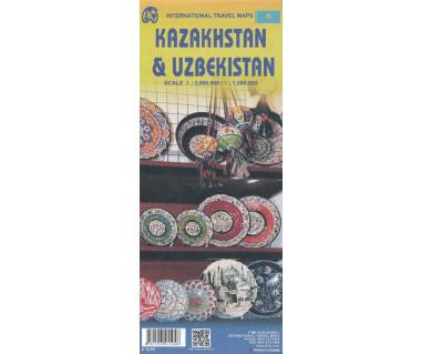 Kazakhstan & Uzbekistan - Mapa