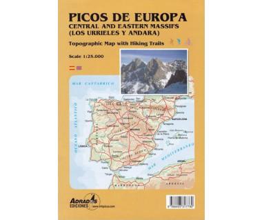 Picos de Europa - Macizos Central y Oriental - Mapa