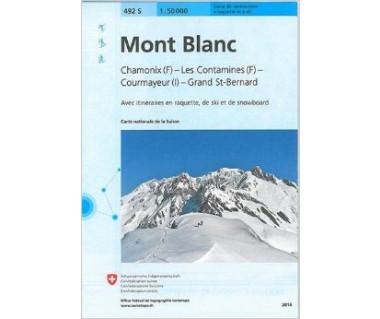 Mont Blanc mapa narciarska