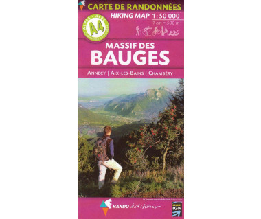 Massif des Bauges (A4) hiking map
