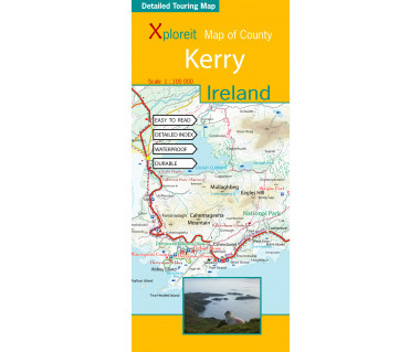 Ireland Kerry touring map