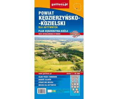 Kędzierzyn-Koźle plan miasta i powiatu - Mapa